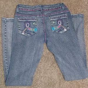 Embroidered Colorful Detailed Jenny Jo Jeans 5/6
